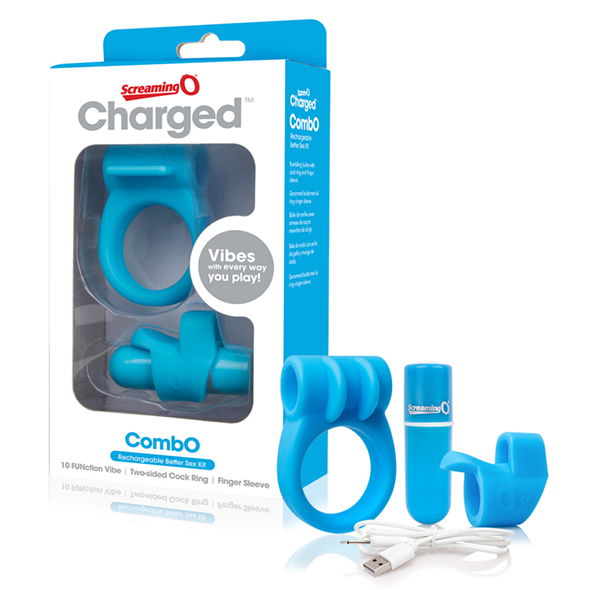 The Screaming O - Charged CombO Kit #1 Blauw Online Sexshop Eroware Sexshop Sexspeeltjes