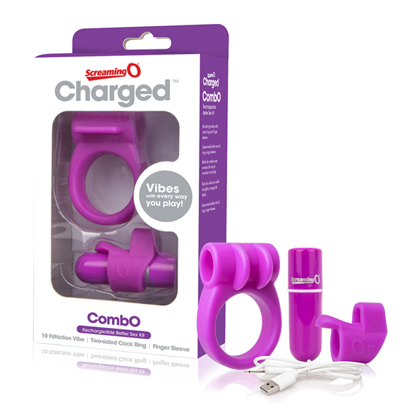 The Screaming O - Charged CombO Kit #1 Paars Online Sexshop Eroware Sexshop Sexspeeltjes