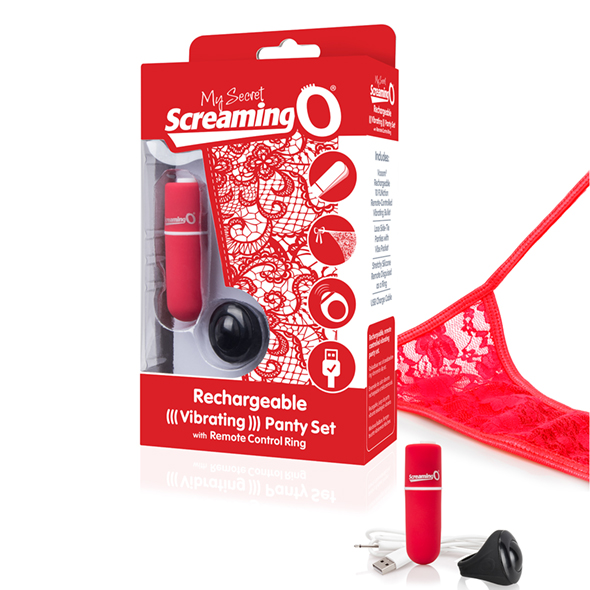 The Screaming O - Charged Remote Control Panty Vibe Rood Online Sexshop Eroware Sexshop Sexspeeltjes