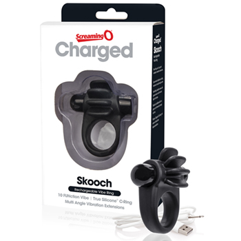 The Screaming O - Charged Skooch Ring Black