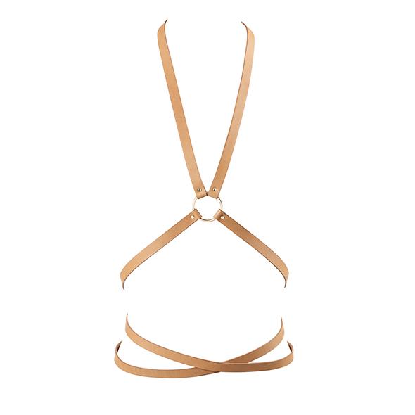 Bijoux Indiscrets - Maze Multi Position Body Harness Bruin Online Sexshop Eroware Sexshop Sexspeeltjes