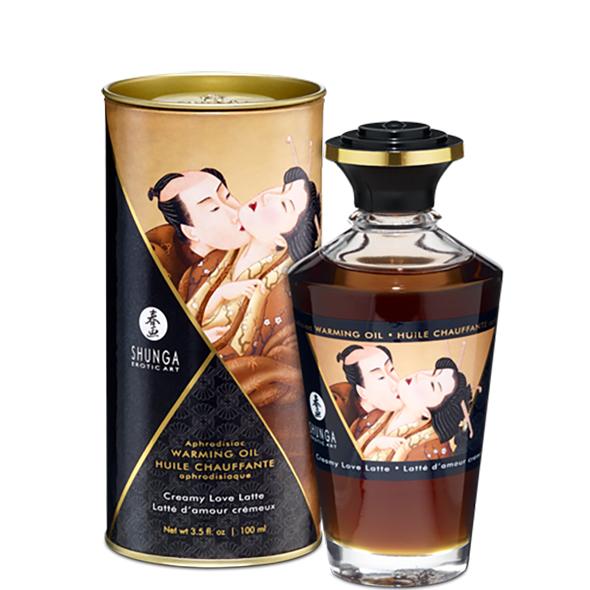 Shunga - Aphrodisiac Warming Oil Creamy Latte 100 ml Online Sexshop Eroware Sexshop Sexspeeltjes