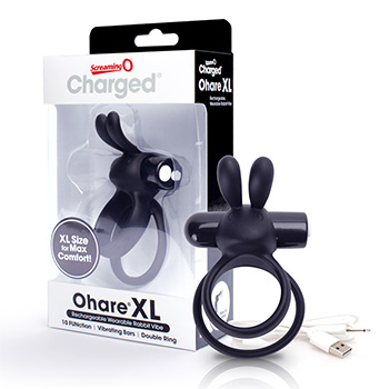 The Screaming O - Charged Ohare XL Rabbit Vibe Black