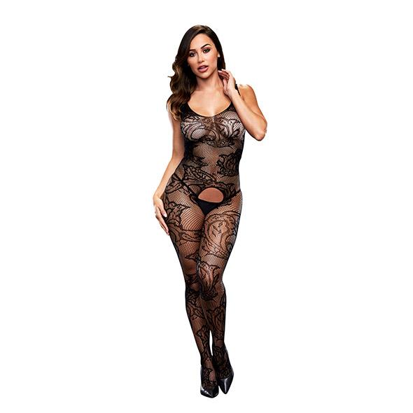 Baci - Crotchless Jacquard Bodystocking One Size Online Sexshop Eroware Sexshop Sexspeeltjes