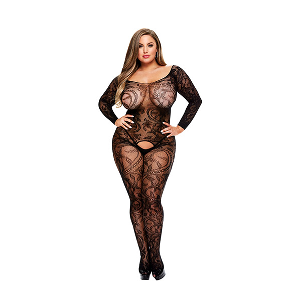 Baci - Longsleeve Crotchless Bodystocking Queen Size Online Sexshop Eroware Sexshop Sexspeeltjes