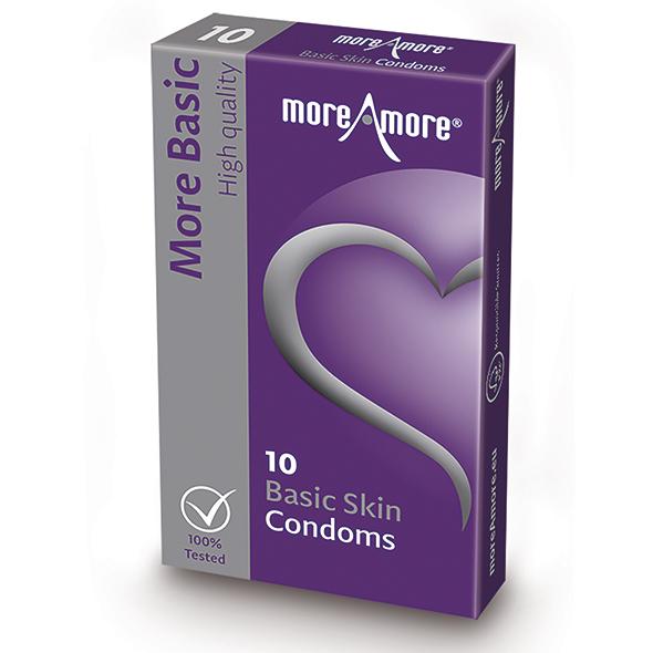 MoreAmore - Condom Basic Skin 10 st. Online Sexshop Eroware Sexshop Sexspeeltjes