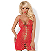 Obsessive - Bride Chemise & Thong Rood L/XL Sexshop Eroware -  Sexartikelen