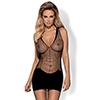Obsessive - D603 Dress Zwart S/M/L Sexshop Eroware -  Sexspeeltjes
