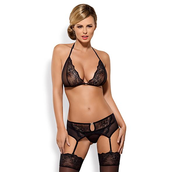 Obsessive - Merossa Set 3 pcs Zwart L/XL Online Sexshop Eroware Sexshop Sexspeeltjes