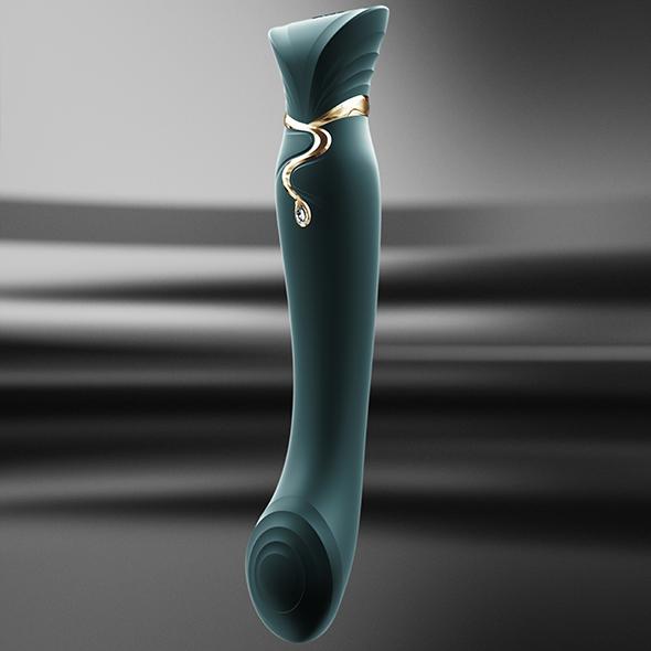 Zalo - Queen Set G-Spot Pulsewave Vibrator Jewel Green image