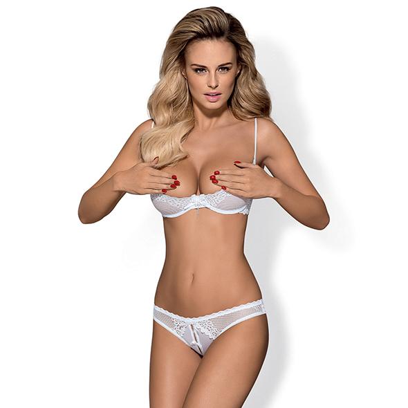 Obsessive - Alabastra Halve Beugel BH Kruisloze String S/M Online Sexshop Eroware Sexshop Sexspeeltjes