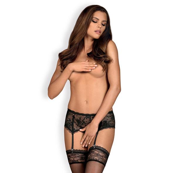 Obsessive - Behindy Garter Belt Zwart L/XL Online Sexshop Eroware Sexshop Sexspeeltjes